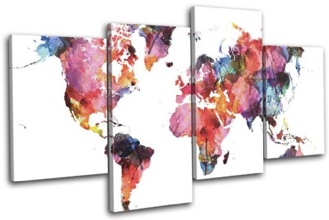 Watercolour  Abstract Maps Flags - 13-6013(00B)-MP04-LO